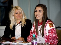Gold medalist Alina Makarenko