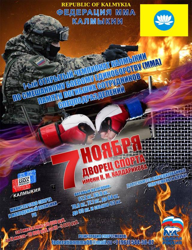 Чемпионат Калмыкии по смешанному боевому единоборству